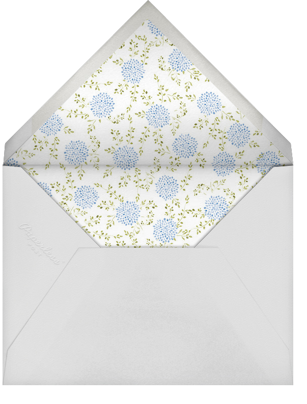Dahlias (Tall) - Blue - Paperless Post - Engagement party - envelope back