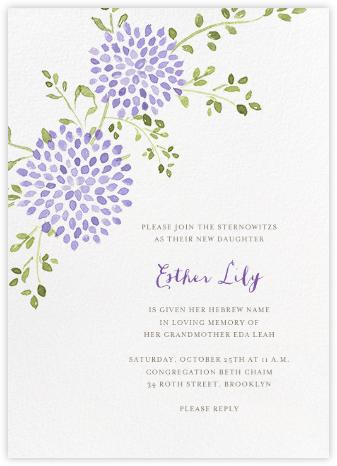 Dahlias (Tall) - Purple - Paperless Post - Bris and baby naming invitations