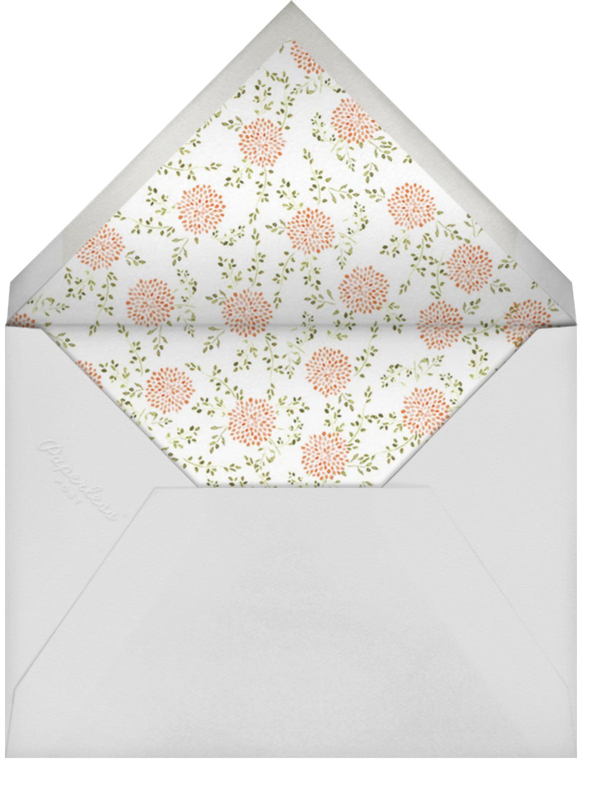 Dahlias (Tall) - Pumpkin - Paperless Post - Engagement party - envelope back