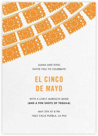 Fiesta Flags - Orange - Linda and Harriett - Invitations