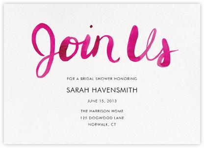 Join Us (Horizontal) - Pink - Linda and Harriett - Linda & Harriett Cards