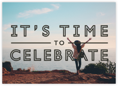 It's Time To Celebrate - Black - Paperless Post -
