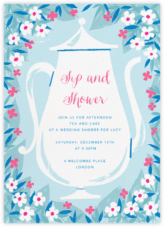 Kettle Petals - Paperless Post - Bridal shower invitations