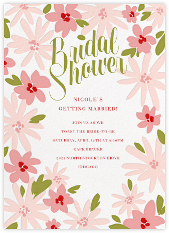 Brushstroke Blooms - Paperless Post - Bridal shower invitations