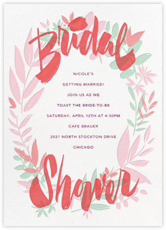 Bridal Bower - Paperless Post - Bridal shower invitations