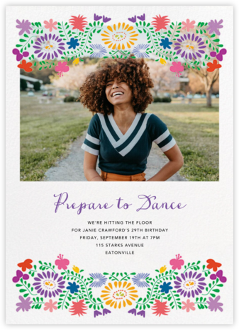 Oaxacan (Photo) - White - Paperless Post - Adult Birthday Invitations
