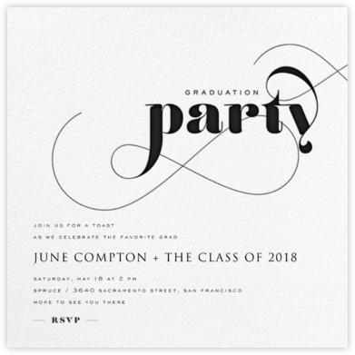 Graduation Whirl - Black - bluepoolroad - bluepoolroad invitations