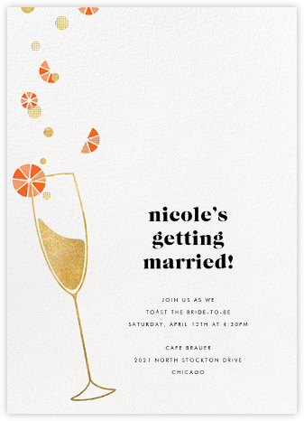 Citrus Fizz - Gold - Paperless Post - Bridal shower invitations