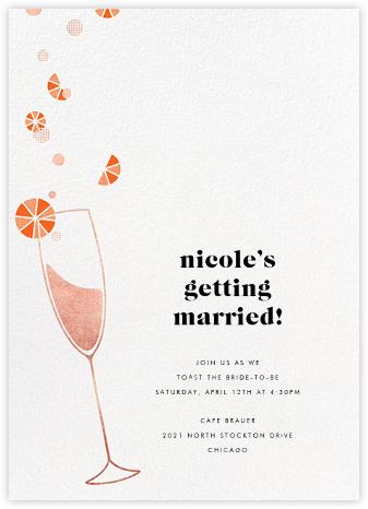 Citrus Fizz - Rose Gold - Paperless Post - Bridal shower invitations