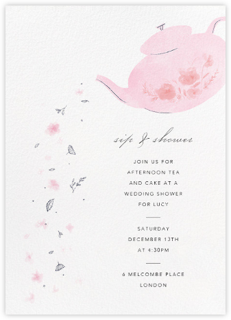 Pouring Petals - Paperless Post - Bridal shower invitations