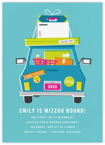 Road to College - Cheree Berry - Celebration invitations