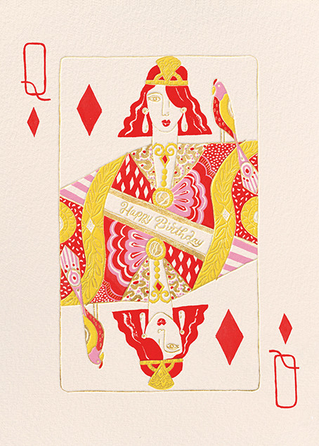 Queen of Diamonds (Danielle Kroll) - Red Cap Cards - Online greeting cards
