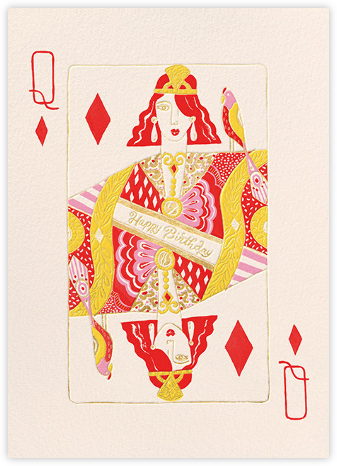 Queen of Diamonds (Danielle Kroll) - Red Cap Cards - Birthday Cards