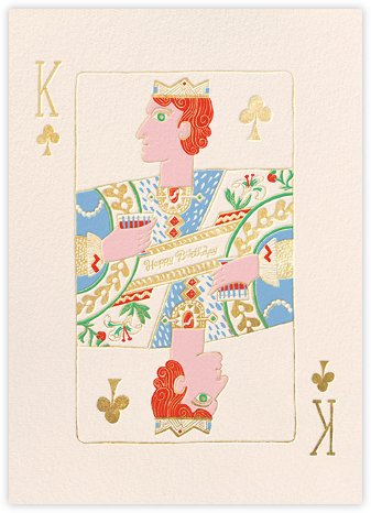 King of Clubs (Danielle Kroll) - Red Cap Cards - Birthday Cards for Him