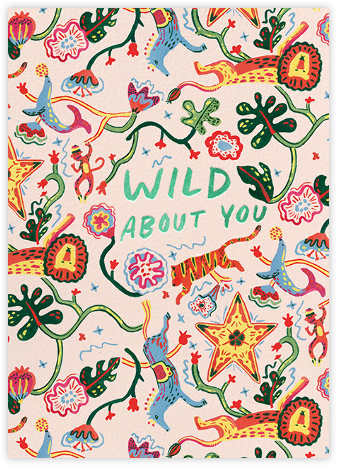 Wild Things (Danielle Kroll) - Red Cap Cards - Valentine's Day Cards