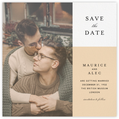 Vellum - Paperless Post - Modern save the dates