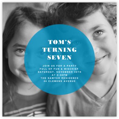 Circle Overlay - Cyan - Paperless Post - Online Kids' Birthday Invitations