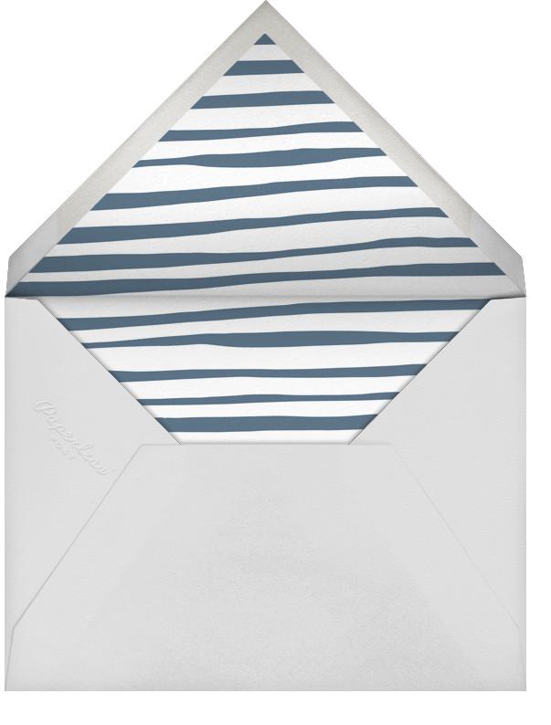 Single Hand Drawn Border - Blue - Linda and Harriett - Personalized stationery - envelope back