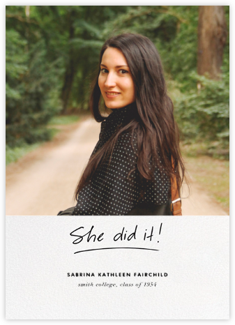 You Did It (Hers) - Linda and Harriett - Graduation announcements
