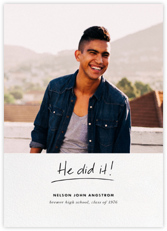 You Did It (His) - Linda and Harriett - Graduation announcements
