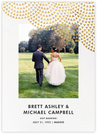 Savoy (Photo) - Gold - Paperless Post - Wedding Announcements