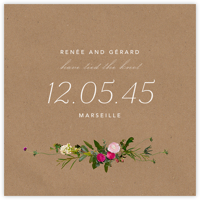 Belvoir (Announcement) - Chipboard - Paperless Post - Wedding Announcements