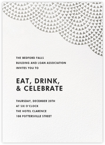 Savoy (Tall) - Silver - Paperless Post - Business event invitations