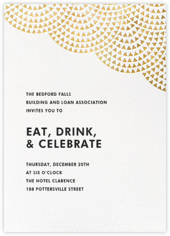 Savoy (Tall) - Gold - Paperless Post - Reception invitations