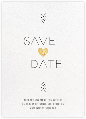 Cupid Was Here - White - Cheree Berry - Modern save the dates