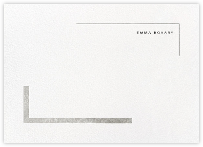 Ando (Stationery) - Silver - Paperless Post - Personalized Stationery