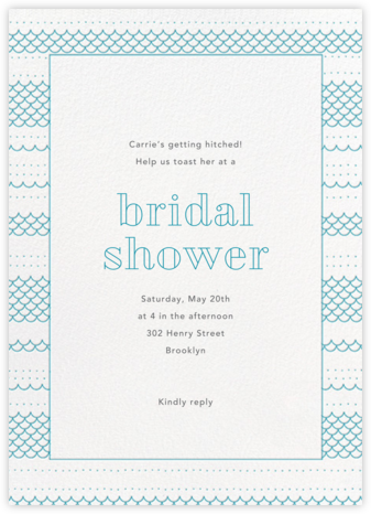 Thalassa - Teal - Paperless Post - Bridal shower invitations