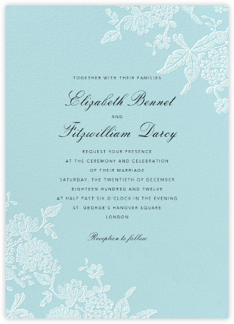 Hydrangea Lace I - Blue - Oscar de la Renta - Wedding invitations