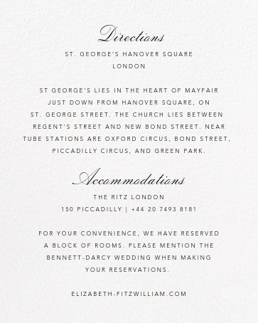 Hydrangea Lace I - Pink - Oscar de la Renta - Printable invitations - insert front
