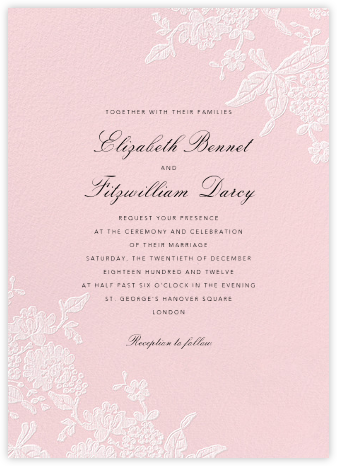 Hydrangea Lace I - Pink - Oscar de la Renta - Wedding Invitations