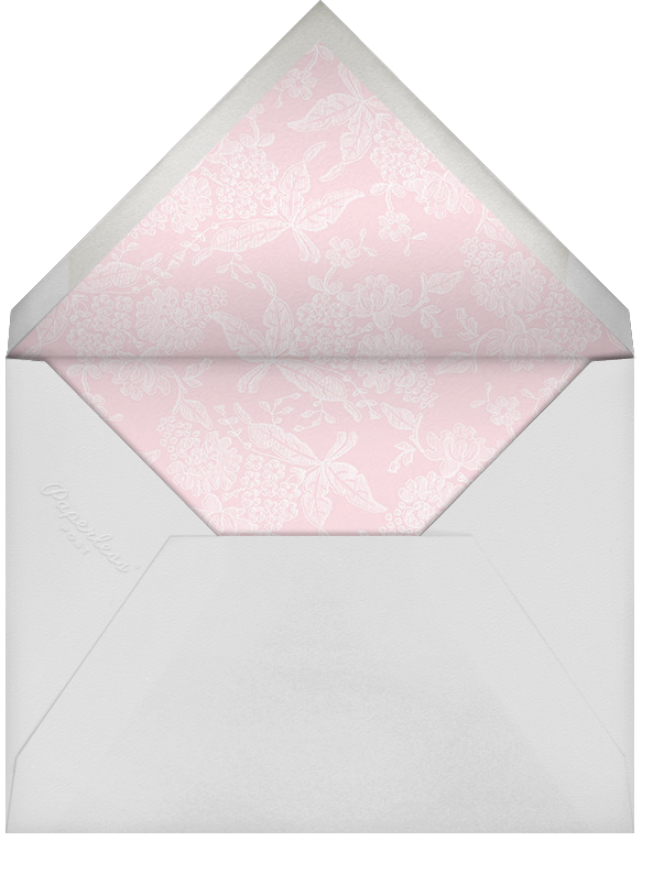 Hydrangea Lace I (Save the Date) - Pink - Oscar de la Renta - Save the date - envelope back