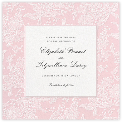 Hydrangea Lace I (Save the Date) - Pink - Oscar de la Renta -