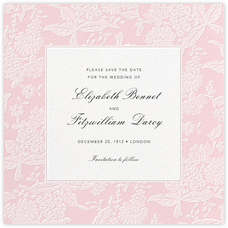 Hydrangea Lace I (Save the Date) - Pink