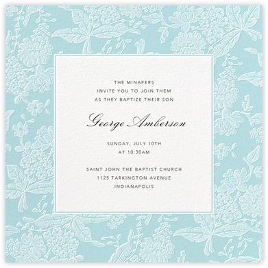 Hydrangea Lace I (Square) - Blue - Oscar de la Renta -