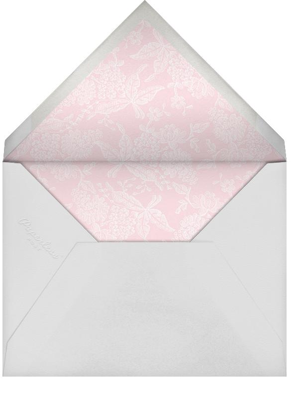 Hydrangea Lace I (Square) - Pink - Oscar de la Renta - Baptism  - envelope back