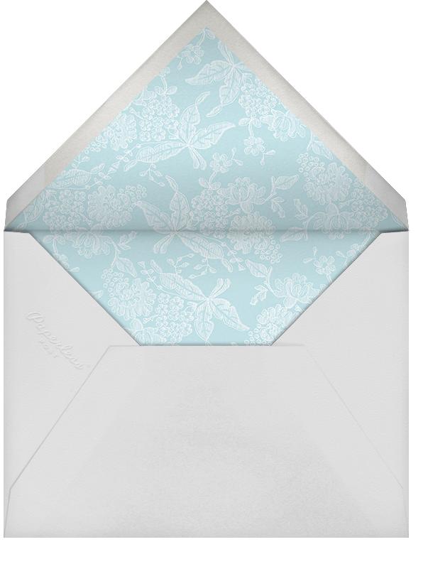 Hydrangea Lace I (Stationery) - Blue - Oscar de la Renta - Envelope