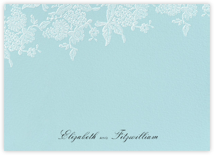 Hydrangea Lace I (Stationery) - Blue | null