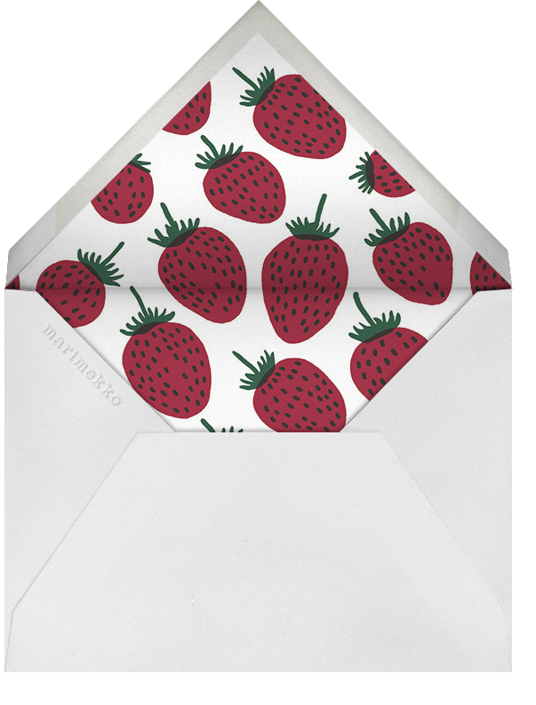 Pieni Mansikka (Stationery) - Marimekko - Personal Stationery - envelope back