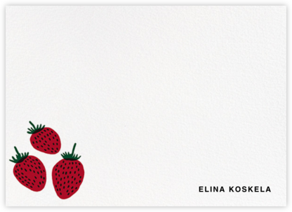 Pieni Mansikka (Stationery) - Marimekko - Personalized Stationery