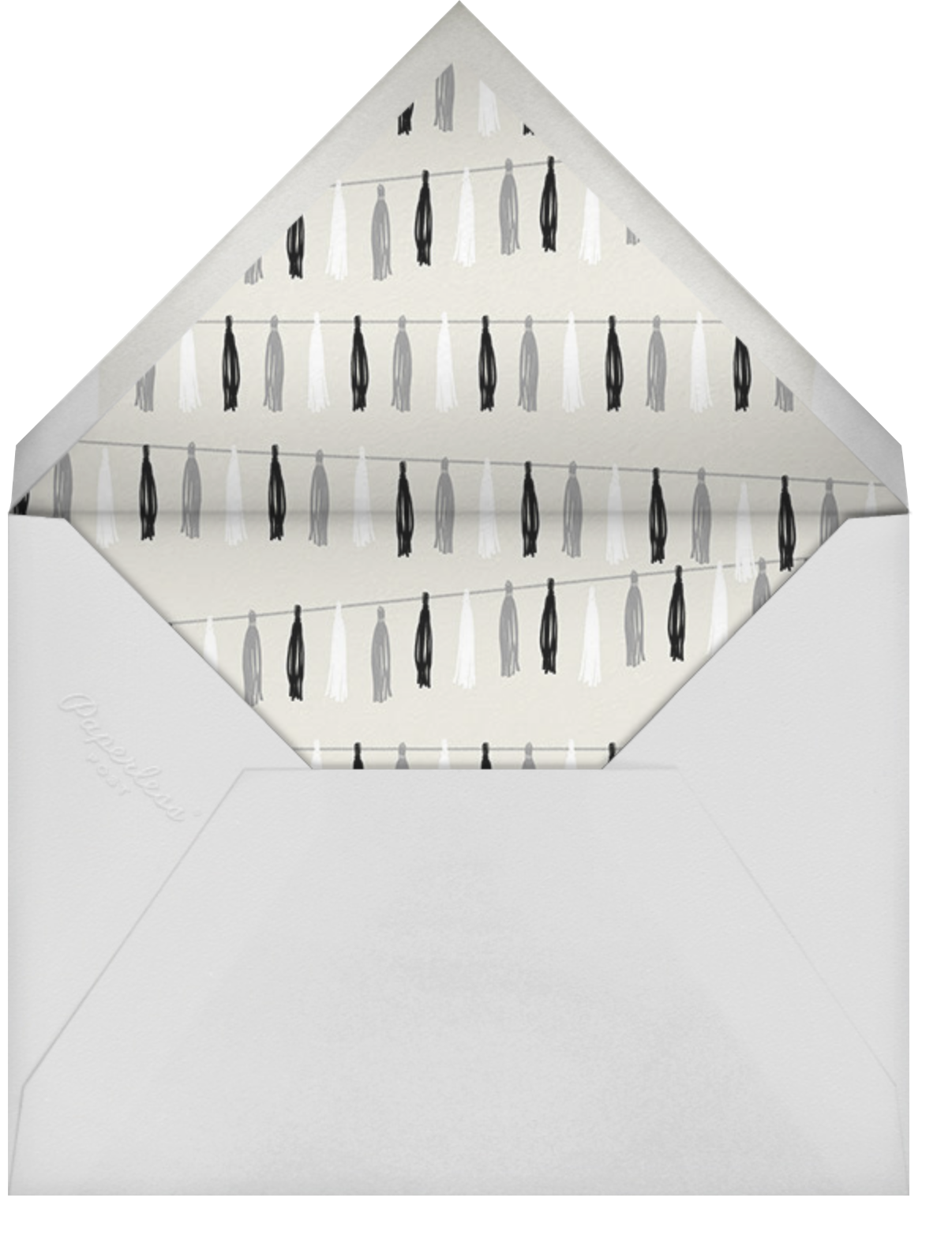 Tasseled II - Rose Gold - Paperless Post - Graduation party - envelope back