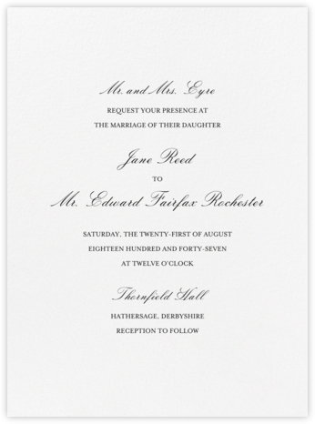 Amboise - Black - Crane & Co. - Wedding Invitations
