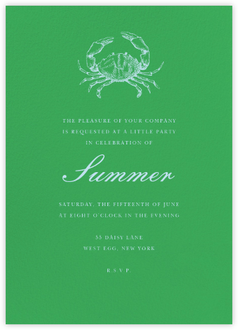 Emerald (Tall) - Paperless Post - Summer entertaining invitations