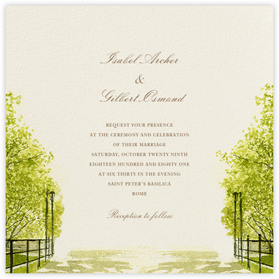 Spring Orchard (Square) - Felix Doolittle - Destination wedding invitations