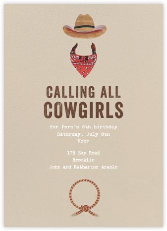 Jesse James - Red - Paperless Post - Kids' birthday invitations