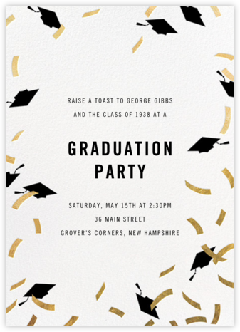 Confetti Caps - Gold - Paperless Post - Celebration invitations