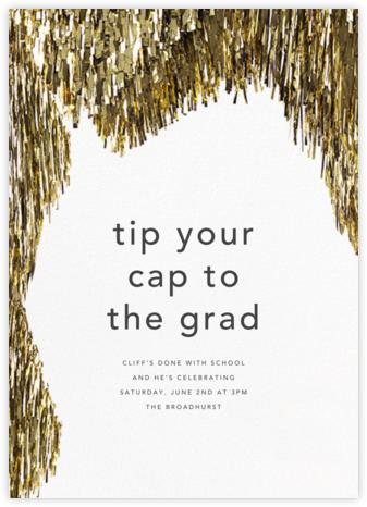 Flash - Gold - CONFETTISYSTEM - Graduation Party Invitations